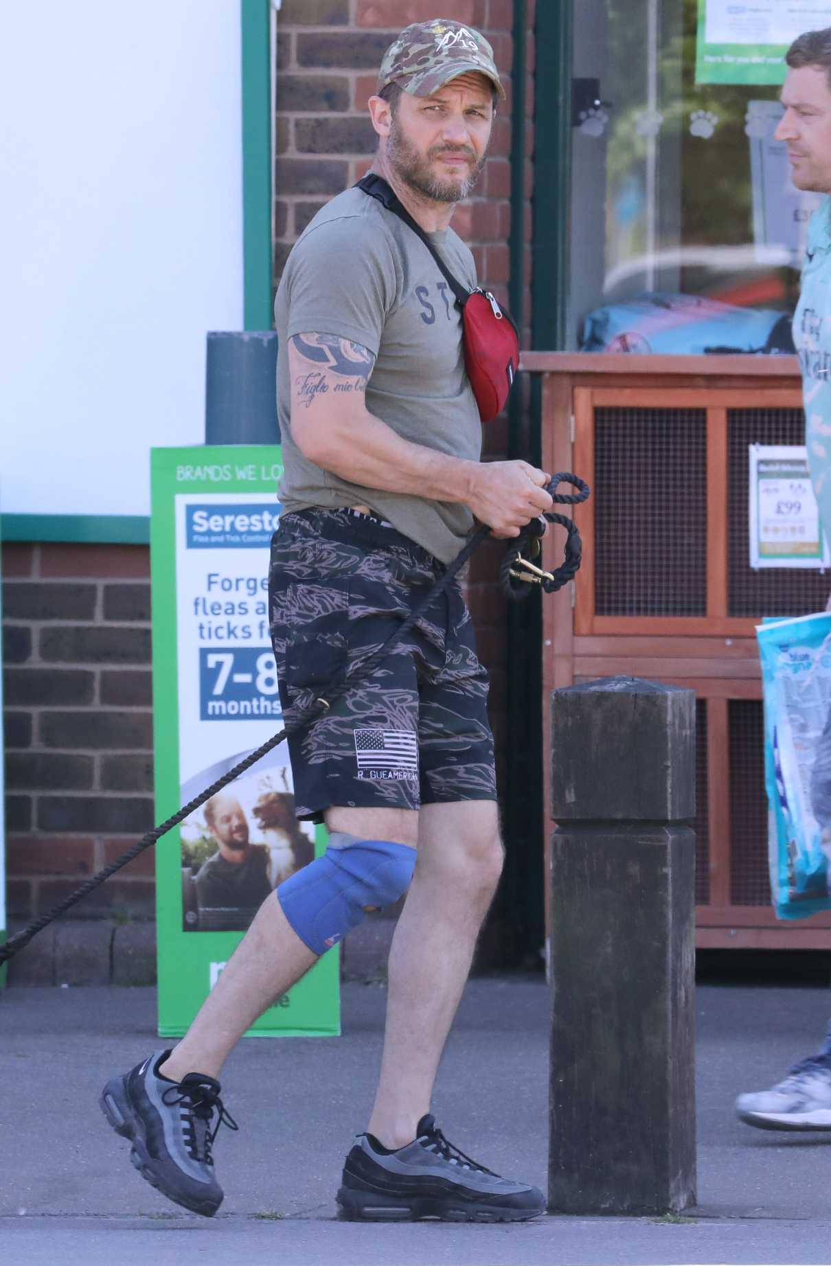 Tom Hardy in a Camo Cap