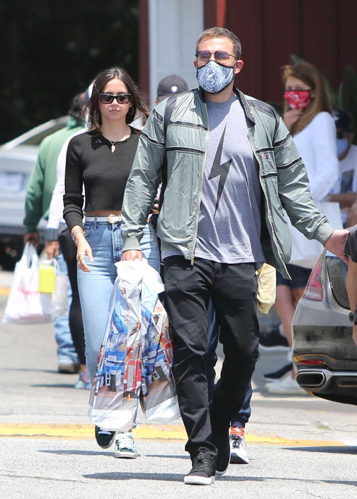 Ana De Armas in a Blue Ripped Jeans