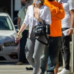 Ariel Winter in a Protective Mask