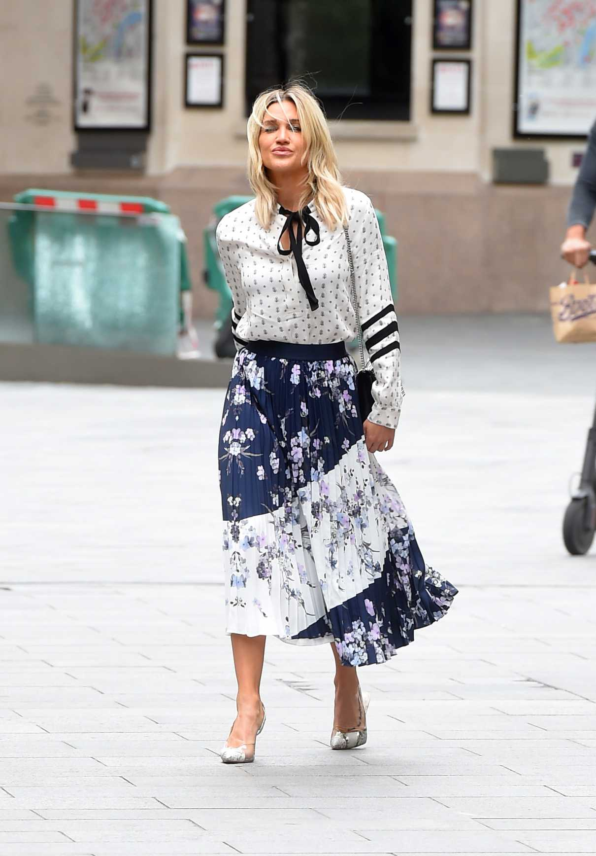 Ashley Roberts in a Floral Skirt