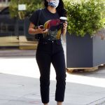 Camila Mendes in a Protective Mask Steps Out for Some Coffee in Los Angeles 06/22/2020