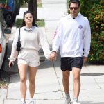 Camila Mendes in a White Sneakers Was Seen Out with Her Boyfriend Grayson Vaughan in Los Angeles 06/23/2020