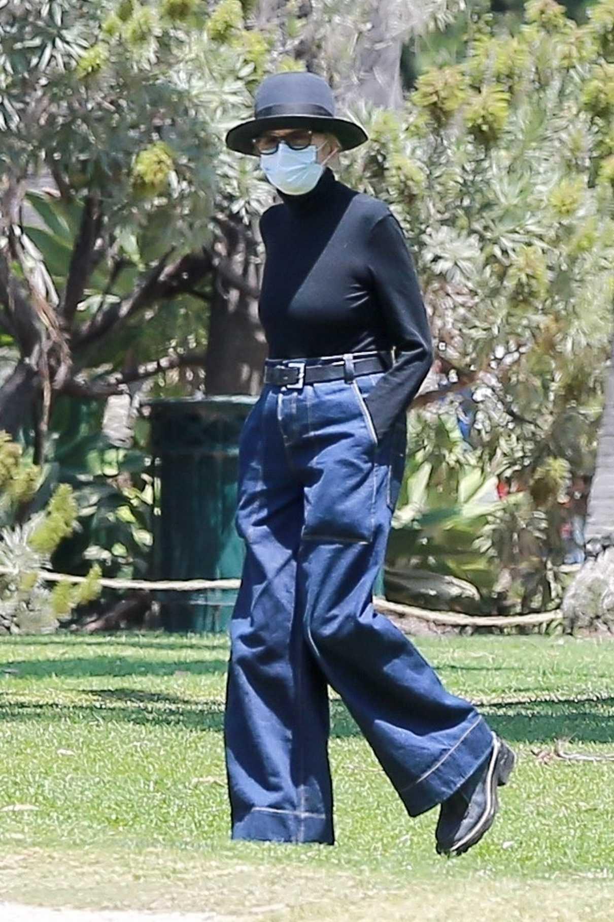 Diane Keaton in a Black Bowler