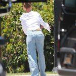 Hailey Bieber in a White Shirt