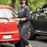 Jordyn Woods in a Black Protective Mask Goes Shopping in Calabasas 06/20/2020