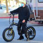 Justin Bieber in a Protective Mask