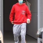 Justin Bieber in a Red Hoody Was Seen Out with Hailey Bieber in Los Angeles 06/20/2020