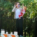 Kate Mara in a White Tee Was Seen Out with Jamie Bell at a Local Park in Los Feliz 06/13/2020