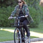 Katherine Schwarzenegger in a Camo Jacket