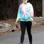 Katherine Schwarzenegger in a Full Colour Hoody