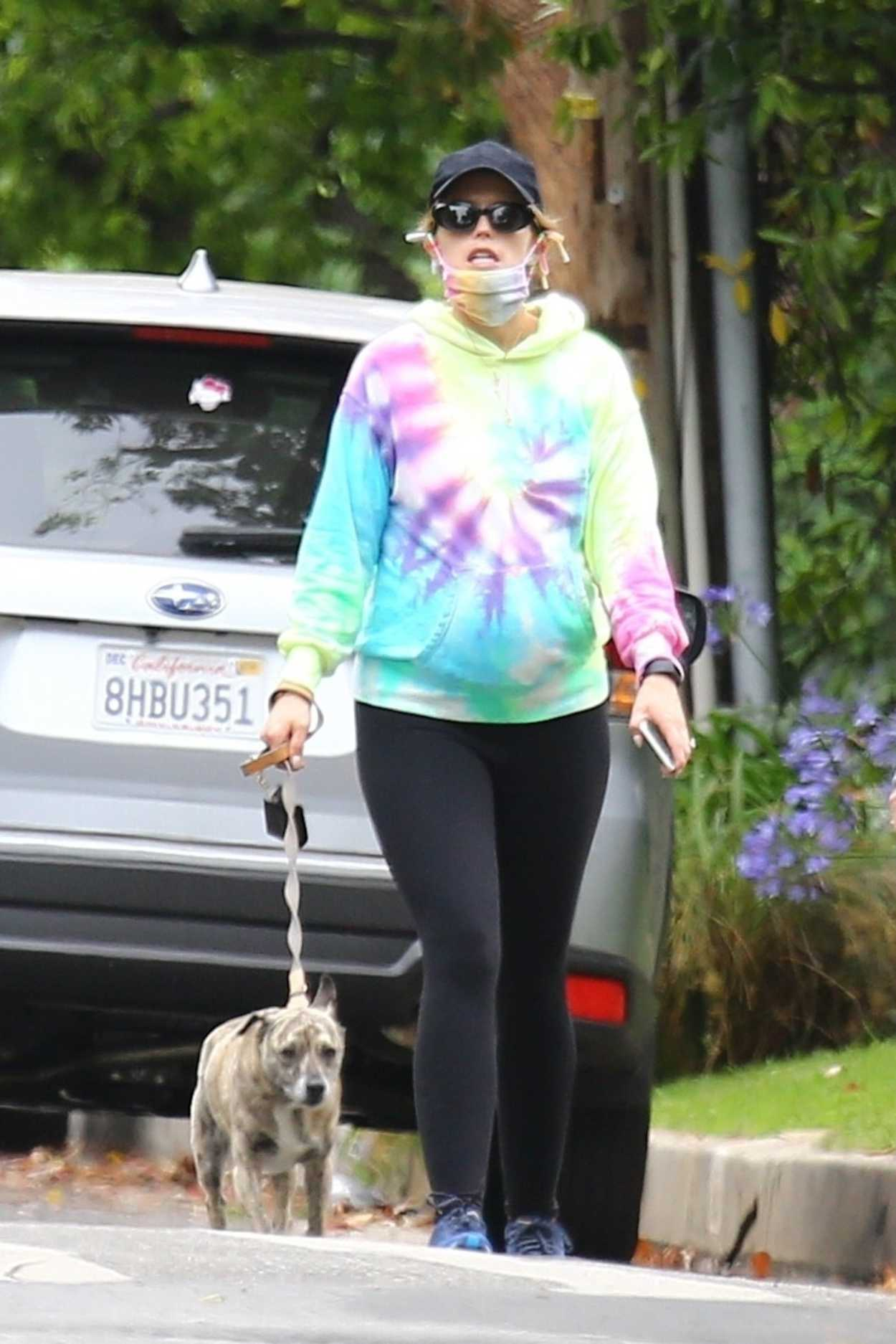 Katherine Schwarzenegger in a Full Colour Hoody