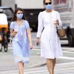 Katie Holmes in a White Dress Was Seen Out with Her Daughter Suri in New York 06/12/2020