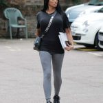 Katie Price in a Black Tee