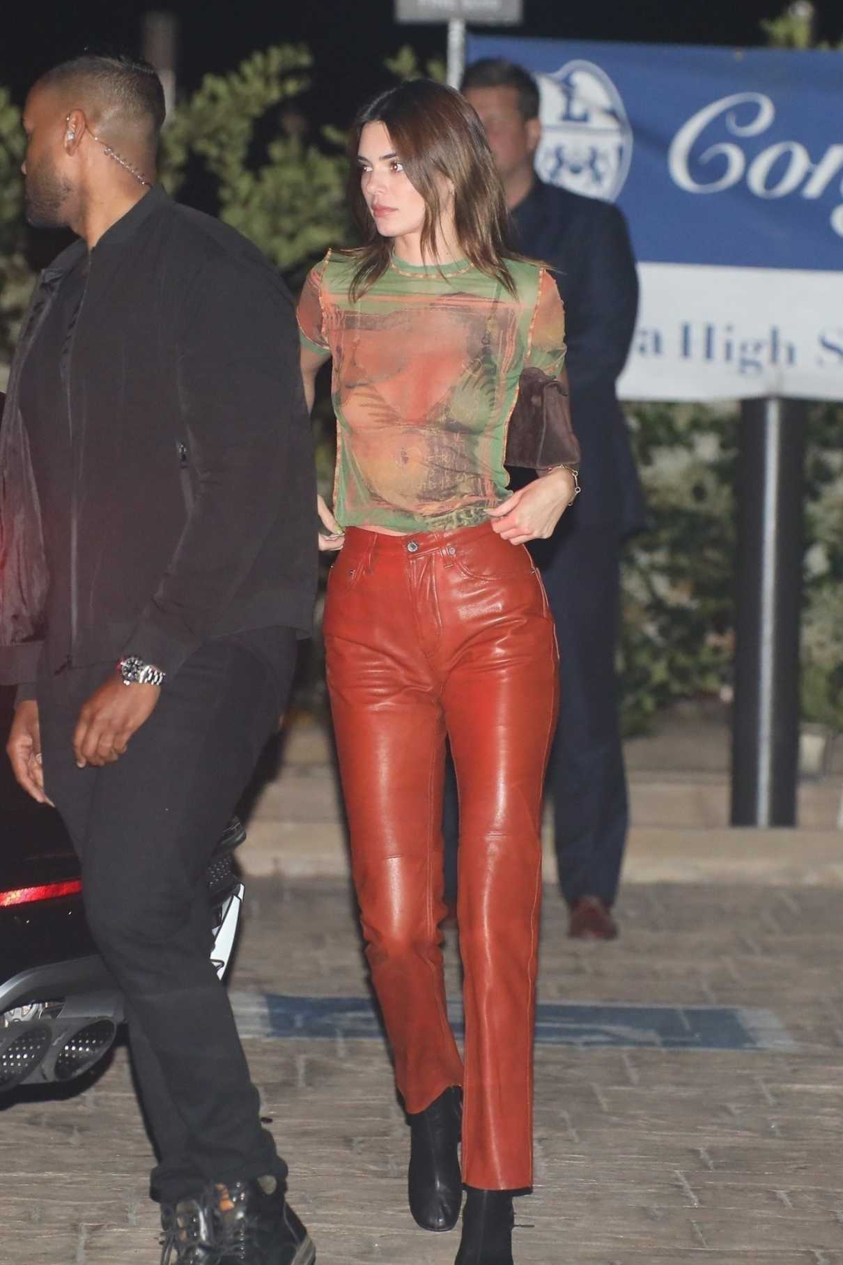 Kendall Jenner in a Red Pants