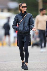 Kyly Clarke in a Black Jacket