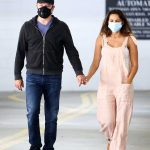 Luciana Barroso in a Protective Mask Heads to the Doctor's Office Out with Matt Damon in Santa Monica 06/02/2020
