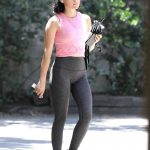 Lucy Hale in a Pink Top