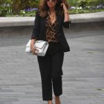 Myleene Klass in an Animal Print Blouse