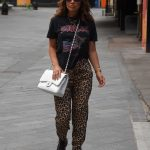 Myleene Klass in an Animal Print Pants