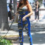 Phoebe Price in a Funny Protective Mask