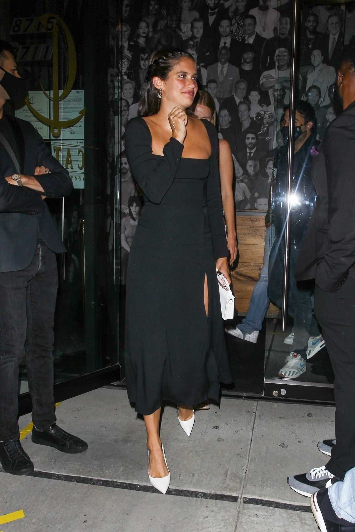 Sara Sampaio in a Black Dress