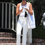 Sara Sampaio in a White Tank Top Was Seen Out in West Hollywood 06/12/2020