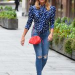 Amanda Holden in a Blue Ripped Jeans