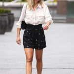 Ashley Roberts in a White Blouse