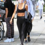 Chantel Jeffries in a Black Sports Bra
