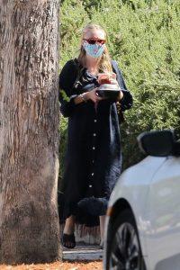 Dakota Fanning in a Protective Mask