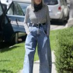 Diane Keaton in a Pair of Blue Bell Bottom Jeans Was Seen Out in Brentwood 07/16/2020