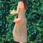 Emily Ratajkowski in a Floral Print Dress