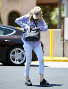 Francesca Eastwood in a Protective Mask