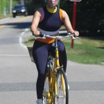 Jennifer Lopez in a Protective Mask Does a Bike Ride in the Hamptons, New York 07/29/2020