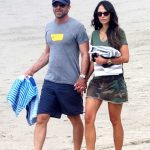 Jordana Brewster in a Camo Skirt