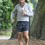Jude Law in a Black Shorts Was Seen Out in London 07/19/2020