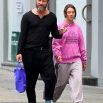 Jude Law in a White Sneakers Was Seen Out with Iris Law in London 07/07/2020