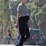 Katherine Schwarzenegger in a Gray Tee Enjoys Her Daily Walk in Brentwood 07/07/2020