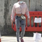 Katie Price in a Protective Mask Leaves a Hospital with a Friend in London 07/12/2020