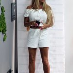Katie Price in a White Top