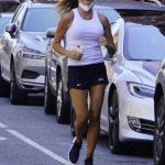 Kelly Bensimon in a White Tank Top Goes for a Jog in New York 07/08/2020