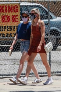 Kristen Stewart in a Blue Daisy Duke Shorts