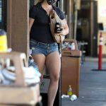 Lana Del Rey in a Blue Daisy Duke Shorts Stops by 7-Eleven in Los Angeles 07/28/2020