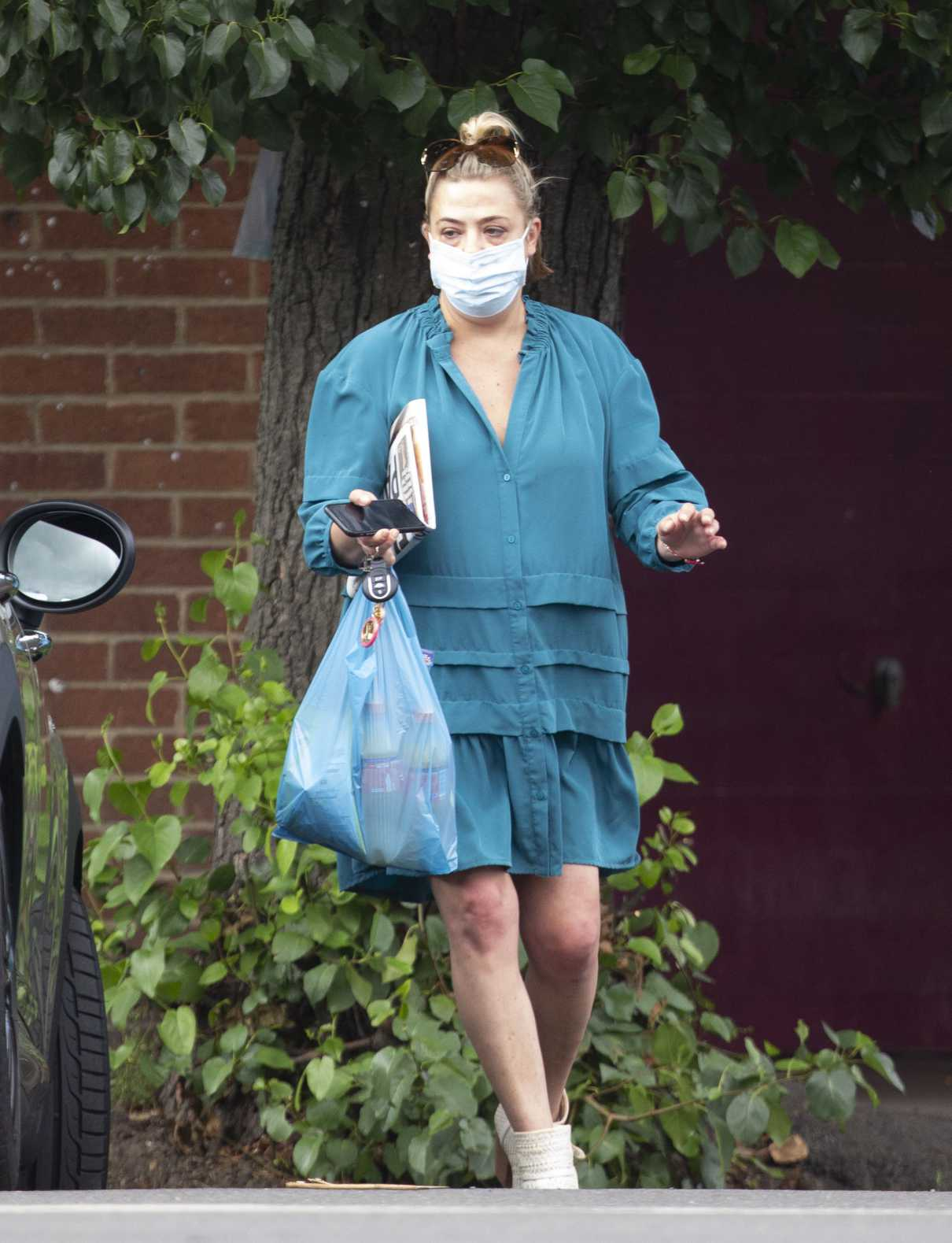 Lisa Armstrong in a Protective Mask