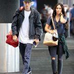 Megan Fox in a Black Ripped Jeans