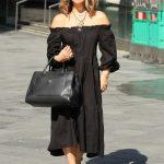 Myleene Klass in a Black Dress