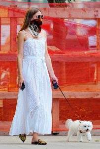Olivia Palermo in a White Summery Dress