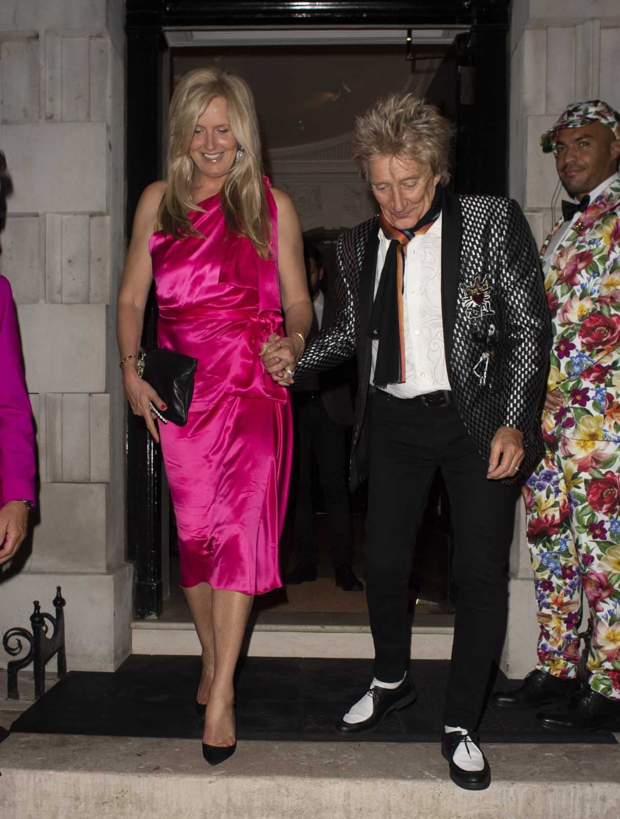 Penny Lancaster in a Pink Dress