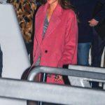 Rachael Finch in a Red Coat