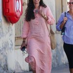 Tatiana Santo Domingo in a Pink Dress